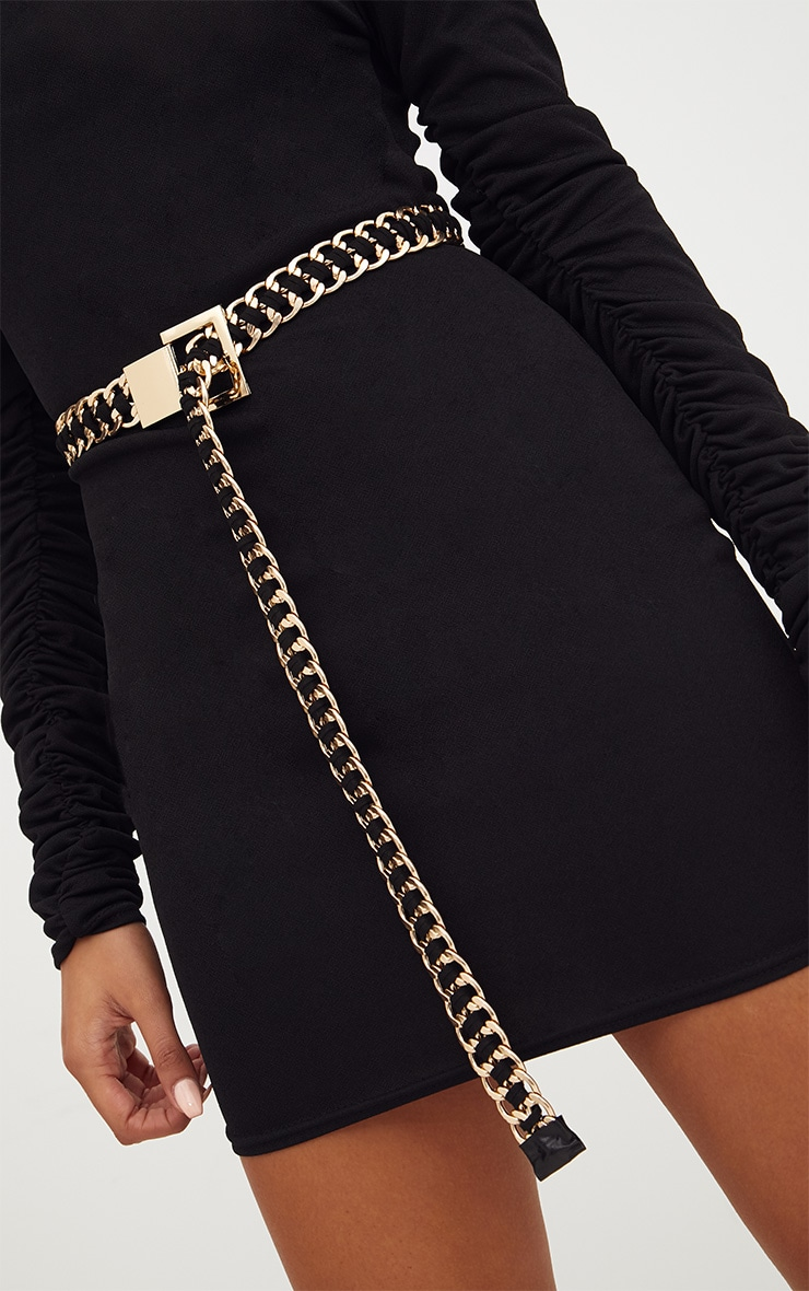 Black Chunky Chain Belt 2