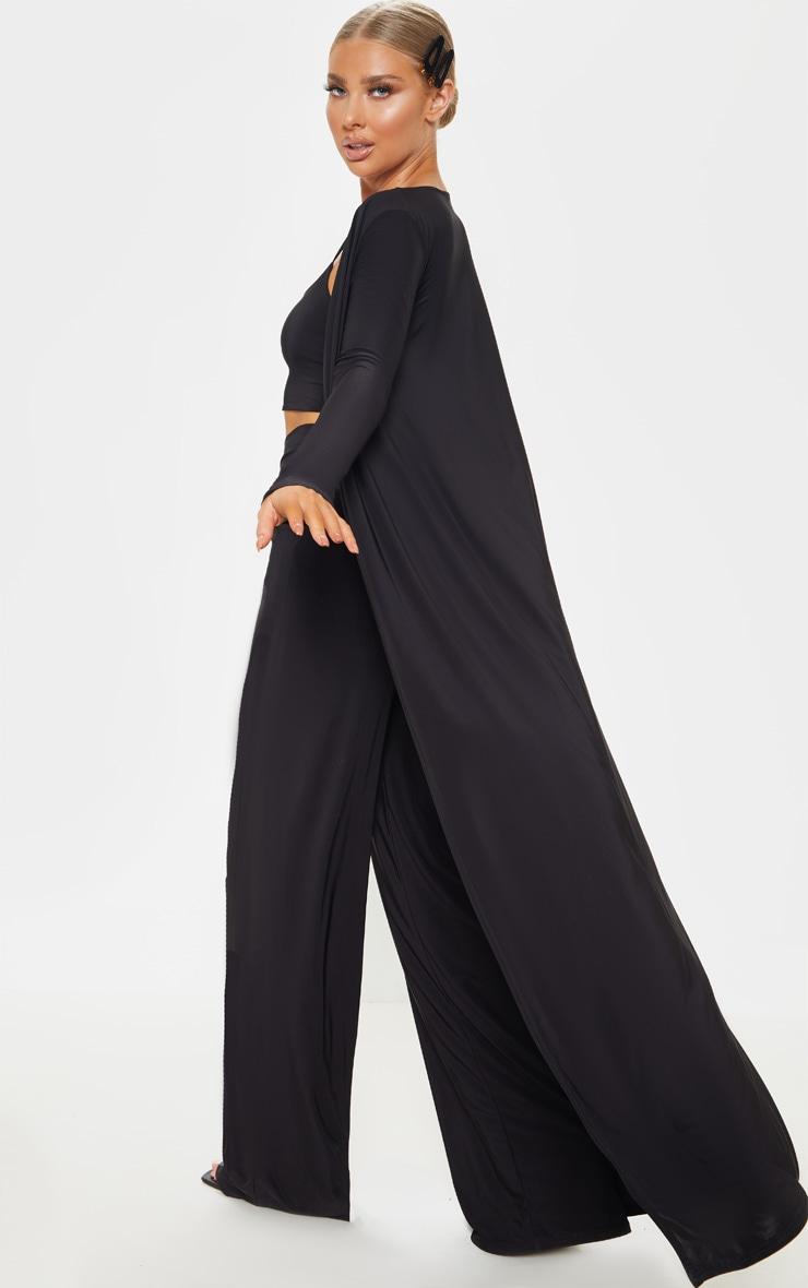 Veste très longue slinky noire  2