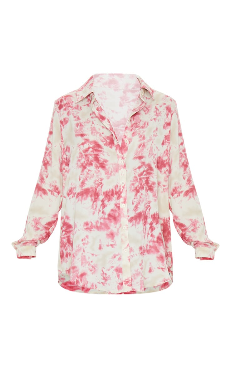 Fuschia Oversized Tie Dye Shirt 5