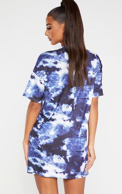 Blue Tie Dye Oversized T-Shirt Dres