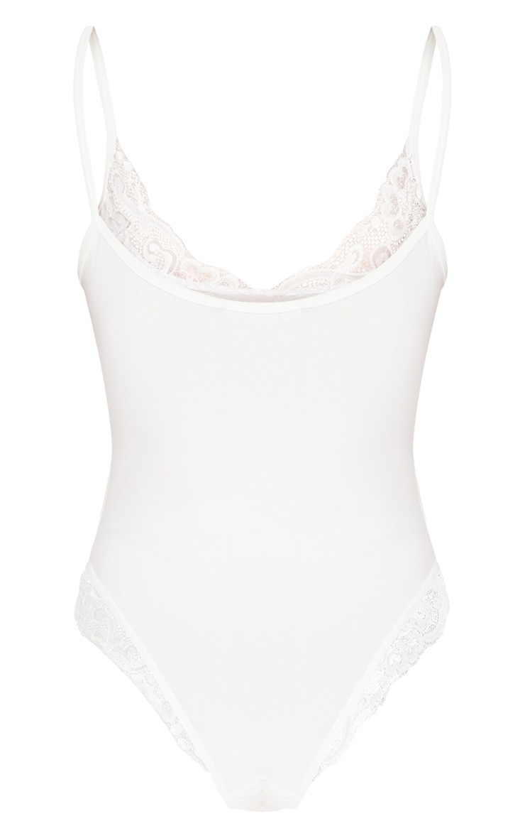 White Basic Soft Lace Trim Body 4