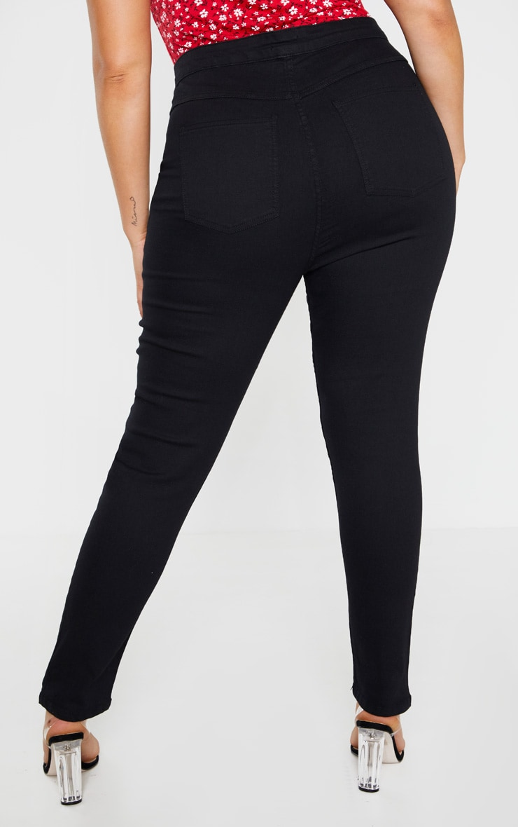 Plus Black High Waisted Super Stretch Skinny Jean 4