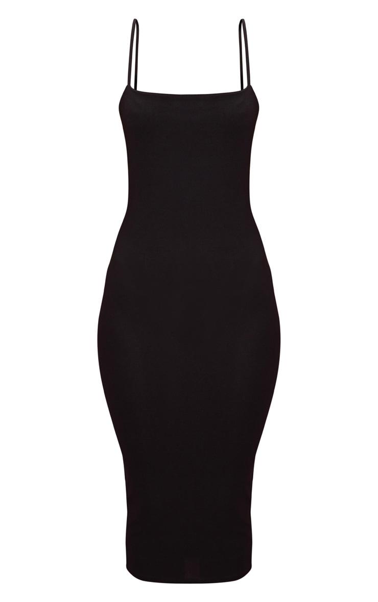 Black Strappy Midi Dress 3