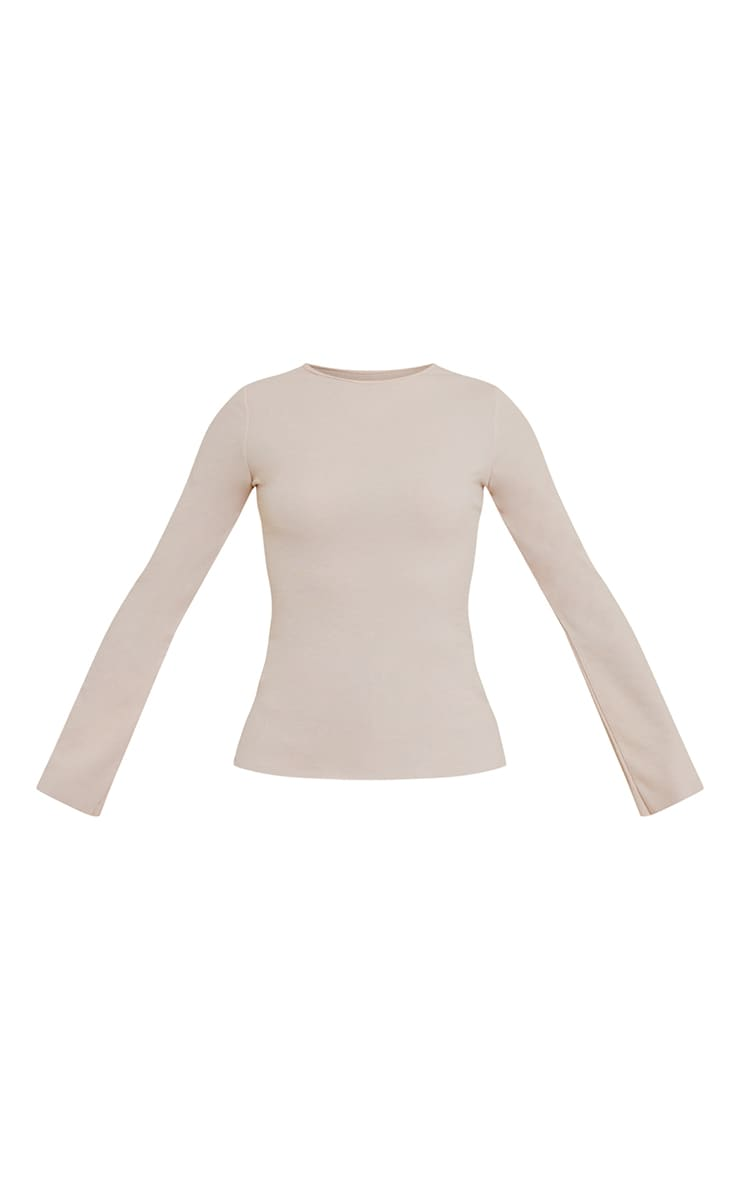 Oatmeal Marl Crew Neck Long Sleeve Top 5