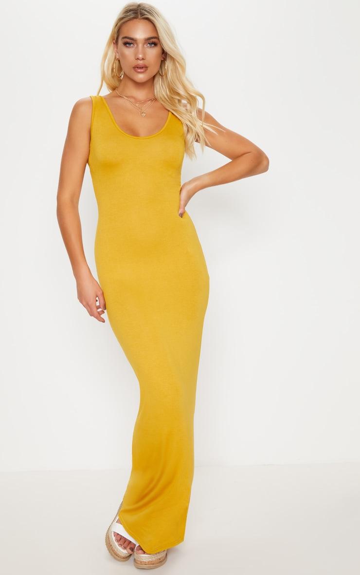 Basic Mustard Maxi Dress 1