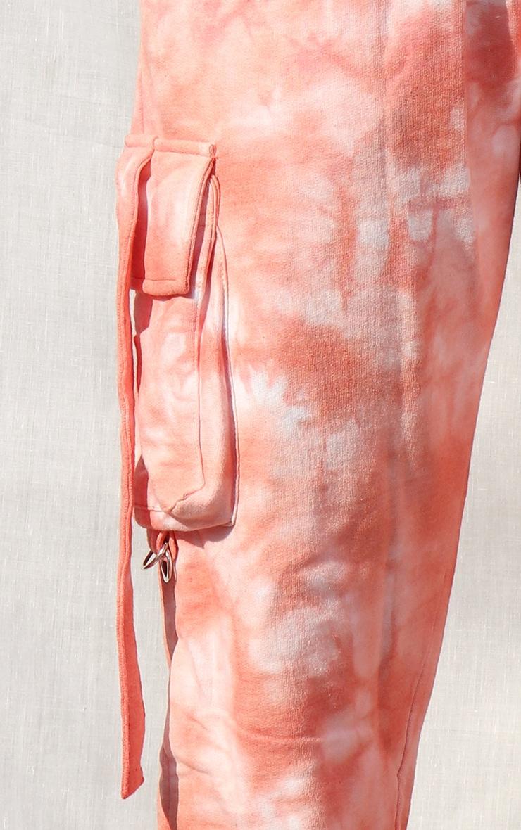 Petite Orange Cargo Tie Dye Jogger 4