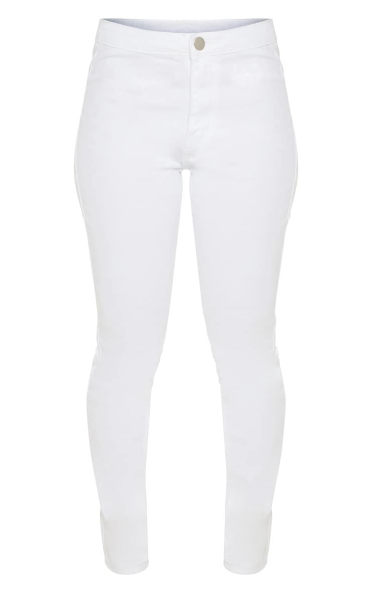Petite White High Rise Skinny Jeans  3