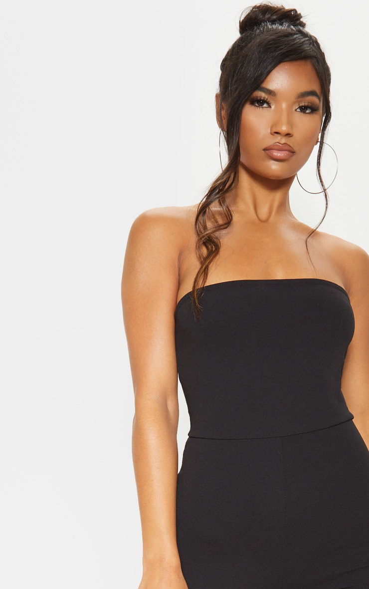 Black Bandeau Slim Leg Jumpsuit 5