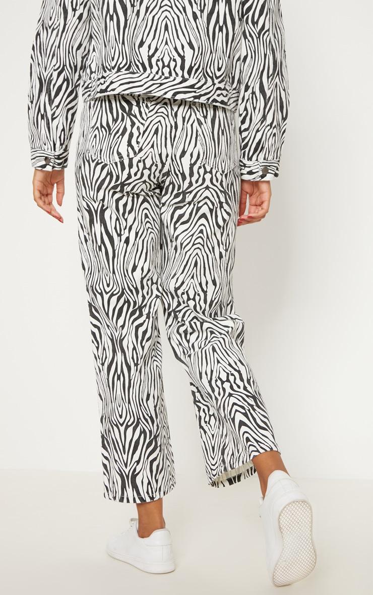 Zebra Wide Leg Utility Cropped Jeans 4