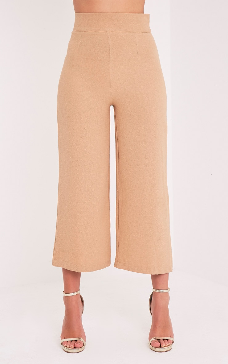 Tazmin Camel High Waisted Culottes 4