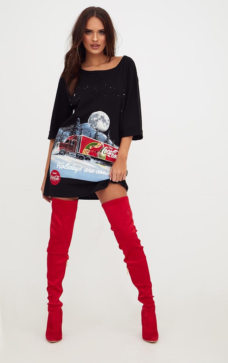 Black Coca Cola Van T Shirt Dress 1
