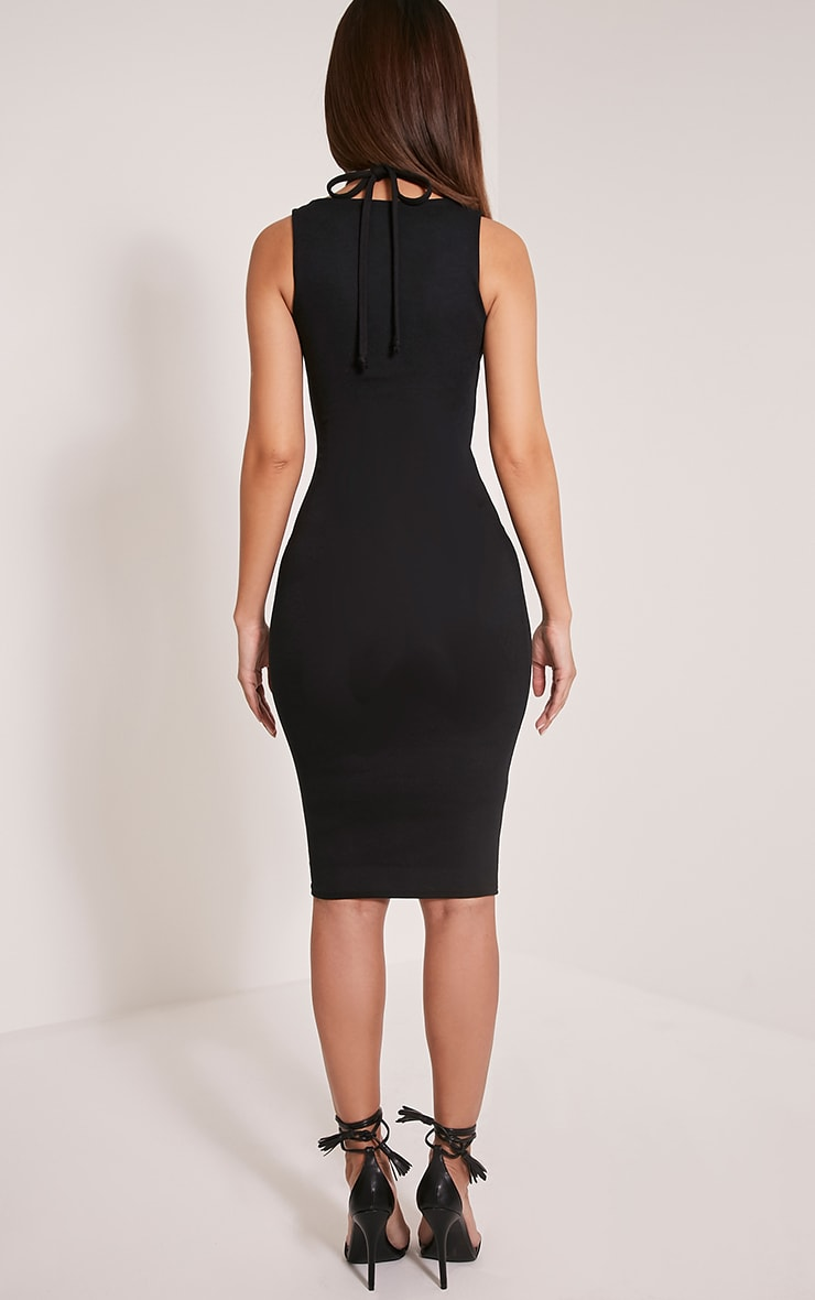 Raynie Black Sleeveless Harness Midi Dress 2