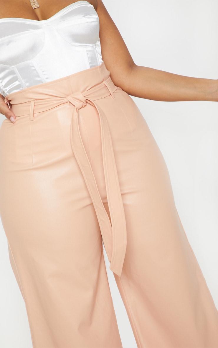 Plus Nude Faux Leather Belt Detail Culotte  5