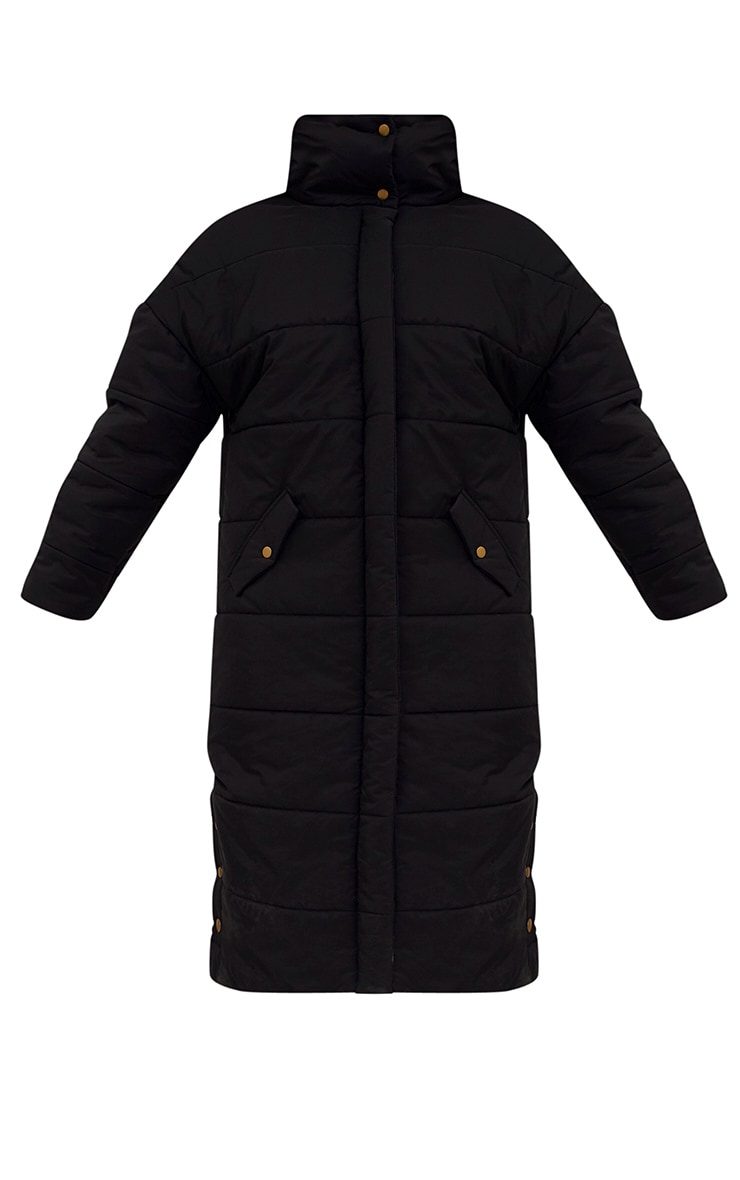 Premium Black Longline Puffer Jacket 3