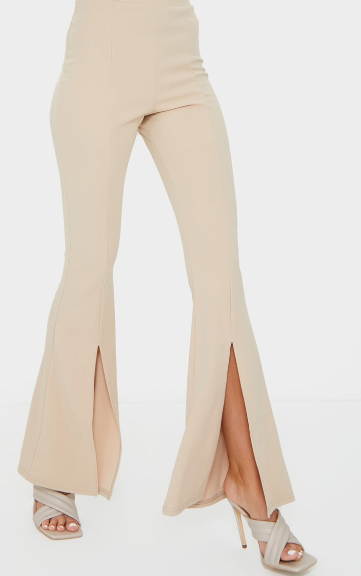 Stone Split Hem Flared Pants 4