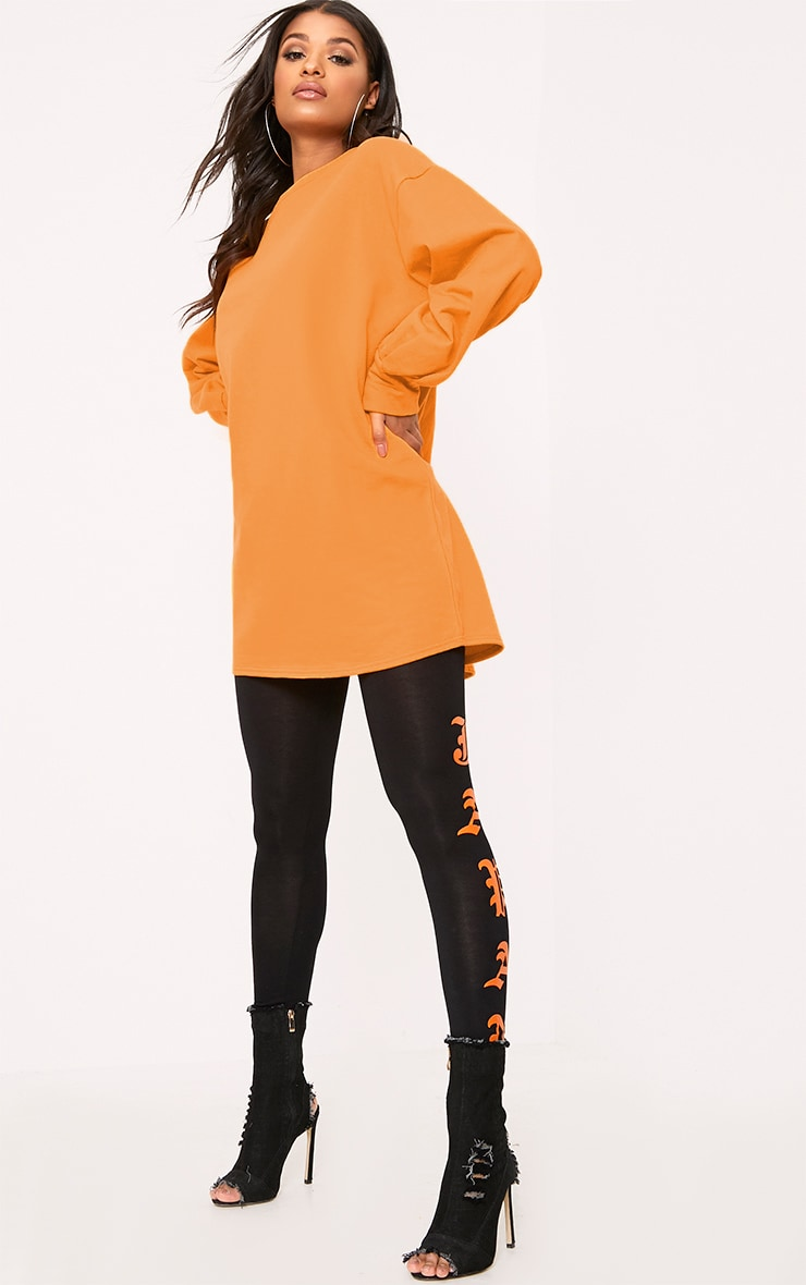 Sianna Orange Oversized Sweater Dress 4