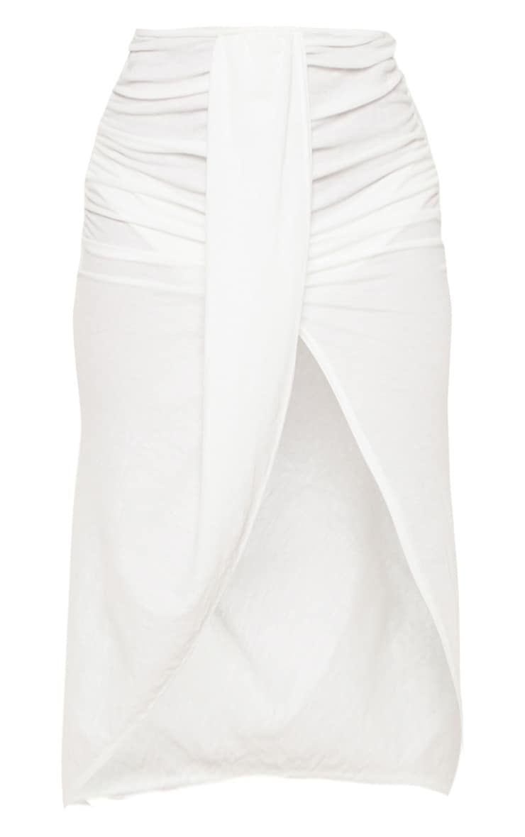 White Knot Front Wrapped Sarong 6