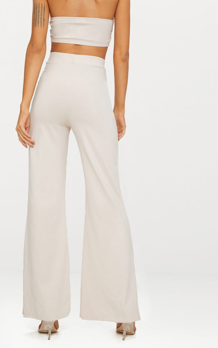 Cream Second Skin Flared Trousers 4