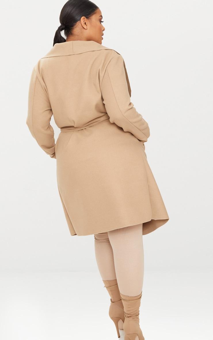 PLT Plus - Manteau camel effet cascade 2