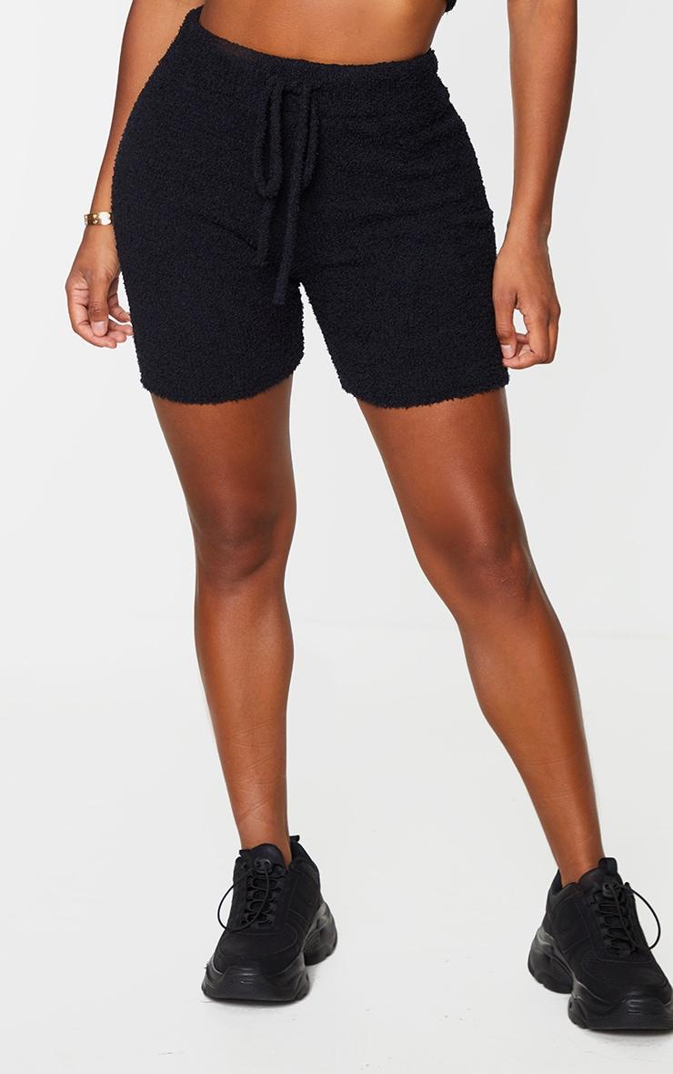 Shape Black Fluffy Knit Shorts 2