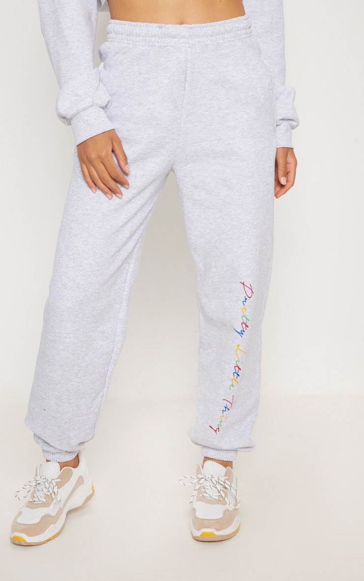 PRETTYLITTLETHING Grey Multi Joggers 2