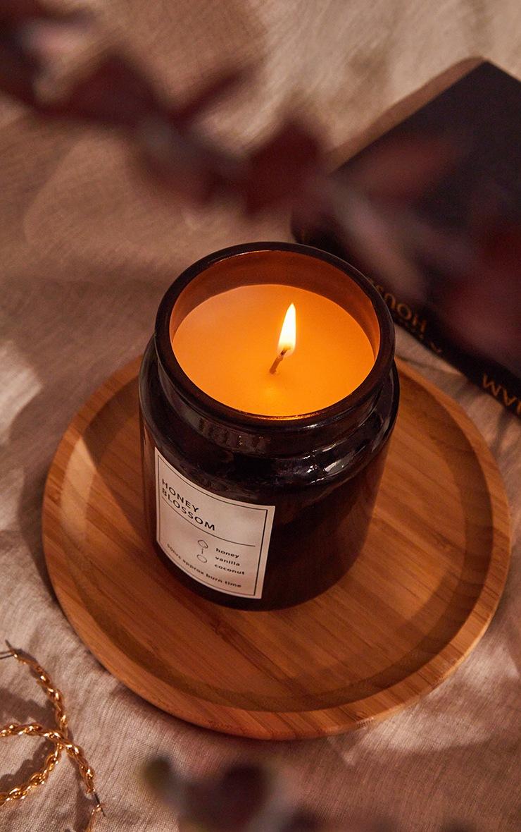 Black Honey Blossom Scented Glass Jar Candle image 1
