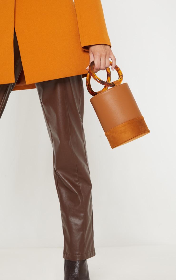 Tan Cylindrical Resin Handle Grab Bag 1