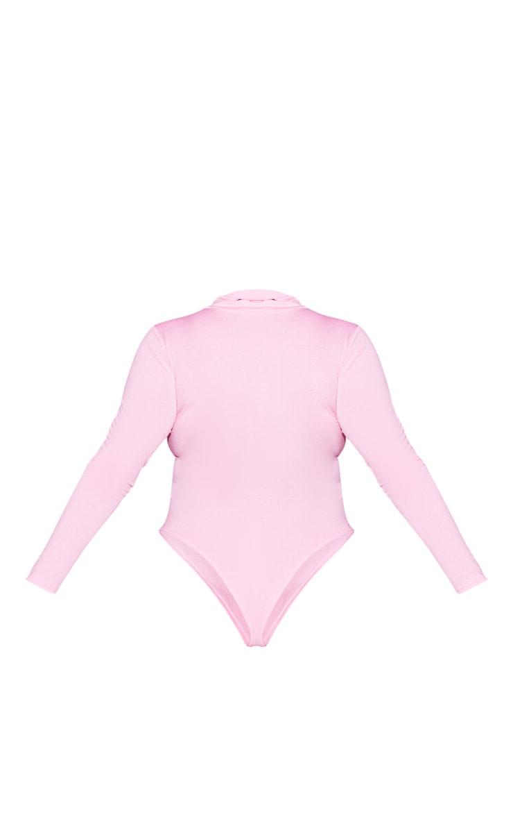 Plus Baby Pink Santa Baby Slogan Bodysuit 4