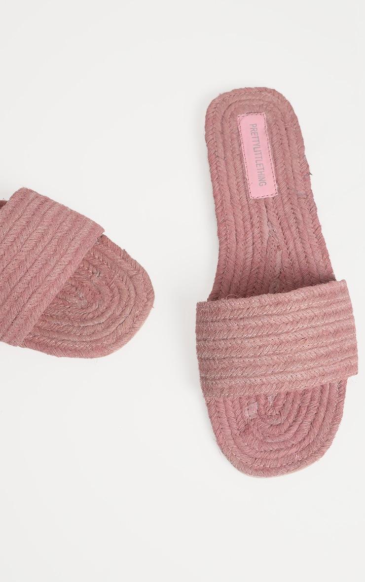 Pink Espadrille Mule Sandal 3