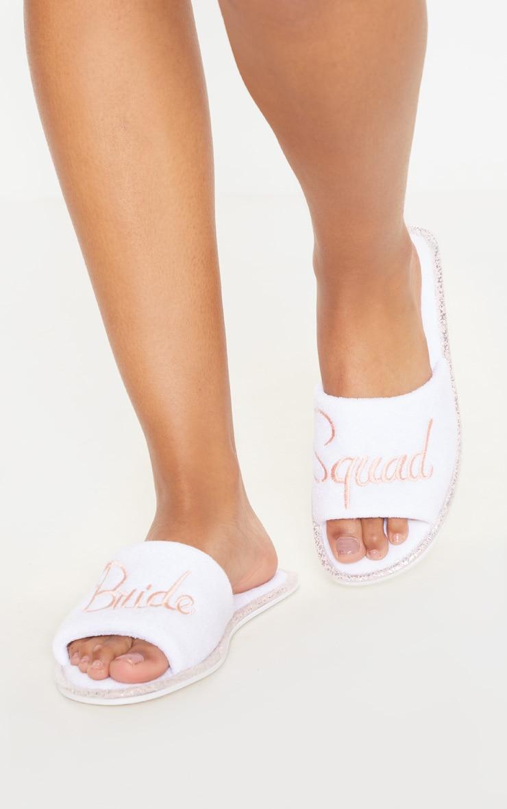 White Bride Squad Slippers 2
