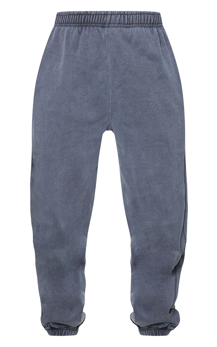 Grey Washed Effect Casual Joggers 5