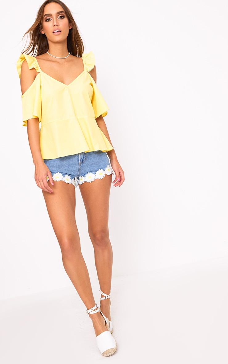 Lemon Frill Sleeveless Shirt 3