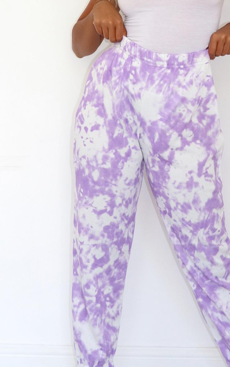 Petite Lilac Tie Dye Joggers 4