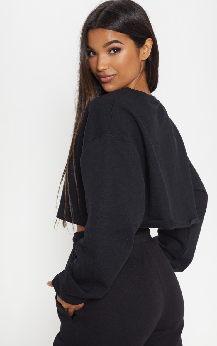 Black Ultimate Cropped Sweater 2