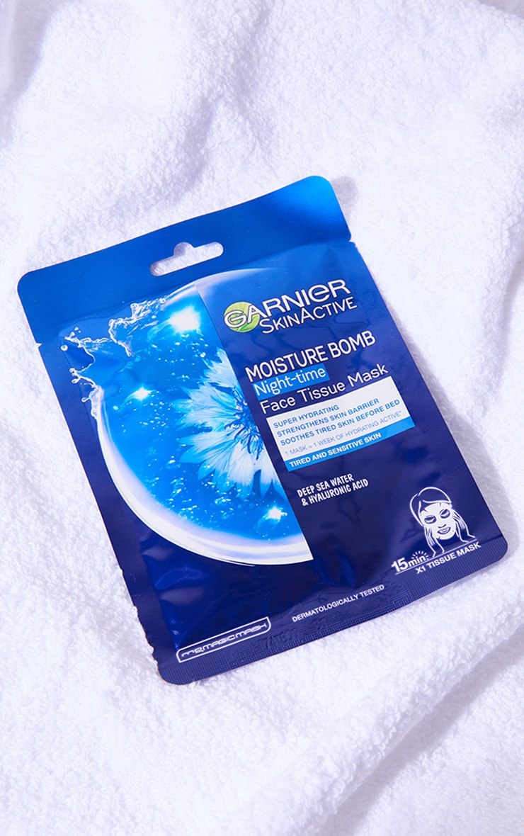 Garnier Moisture Bomb Night-Time Deep Sea Water and Hyaluronic Acid Sheet Mask 1
