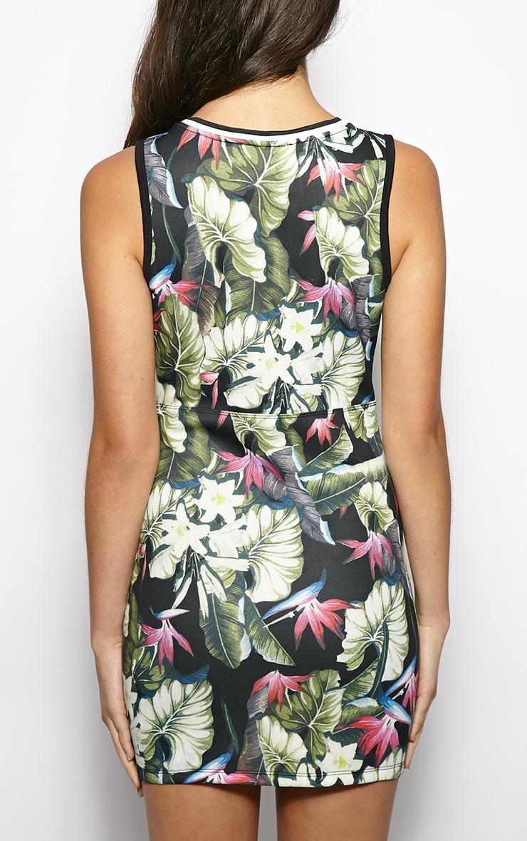 Helena Floral Print Basketball Dress  2