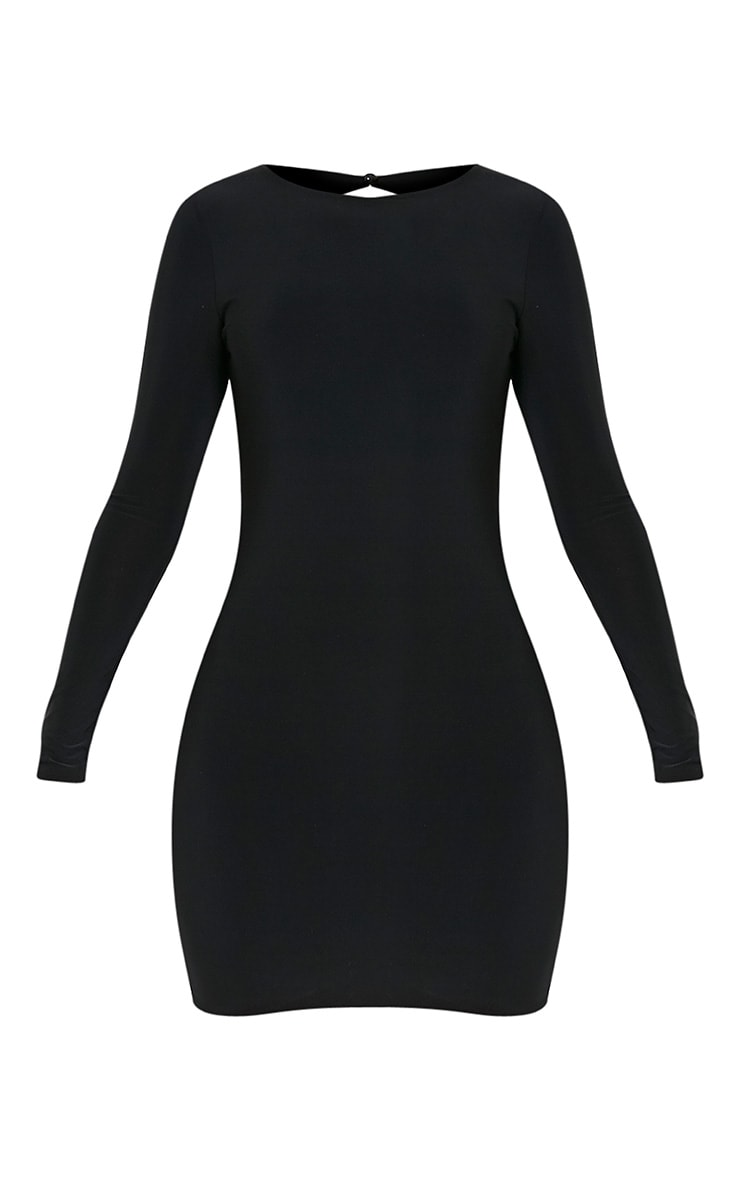 Alisiah Black Ruched Back Bodycon Dress 3