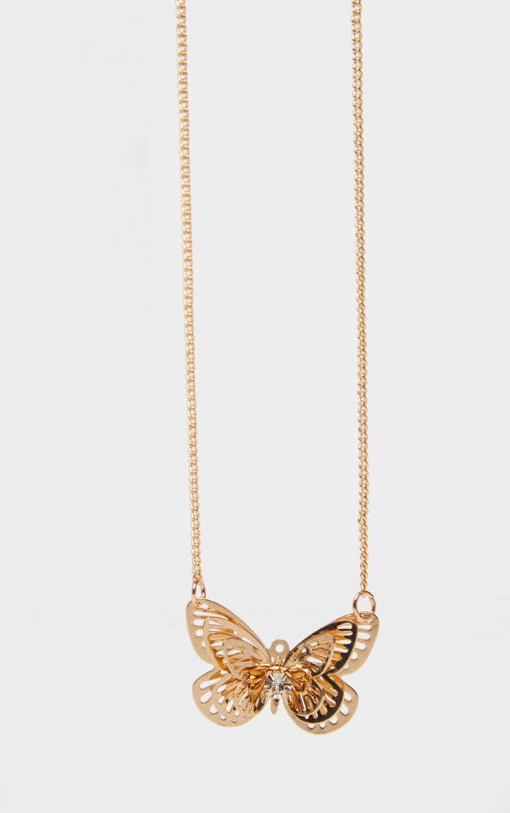 Gold Butterfly Necklace 3