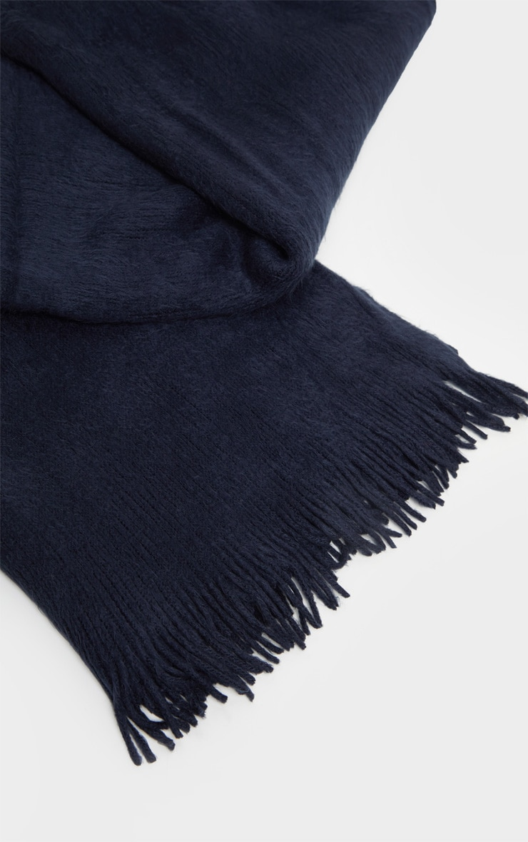 Navy Brushed Scarf 2