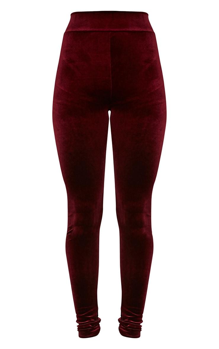 Eryn Berry Velvet High Waisted Leggings 3