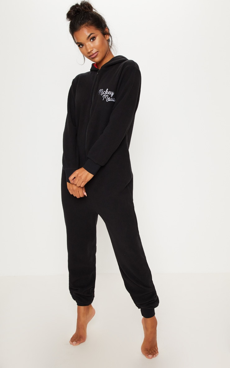 Black Disney Mickey Mouse Onesie 4