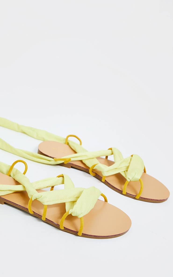 Lime Ghillie Lace Up Sandals 3