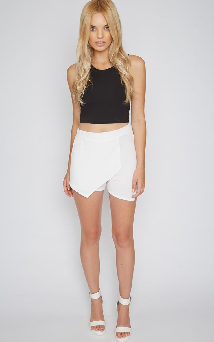 Isobel White Textured Skort  1