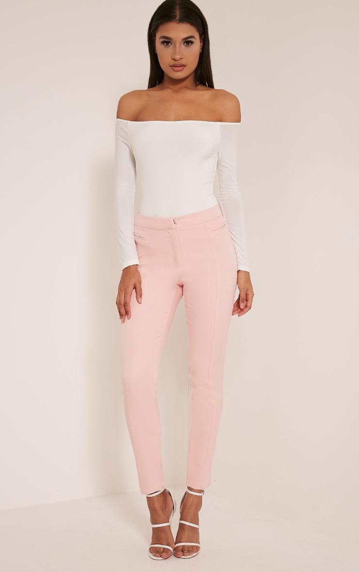 Rossalyn Cream Slinky Bardot Bodysuit 6
