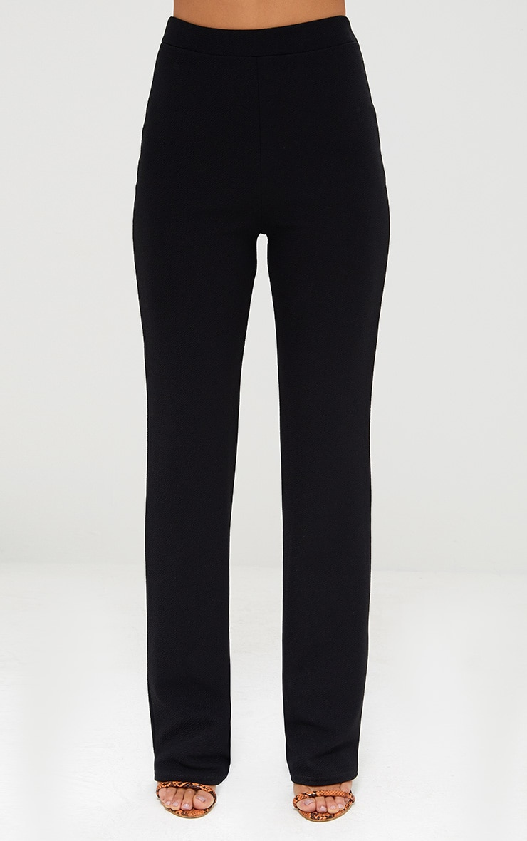 Black Straight Leg Suit Trousers 2