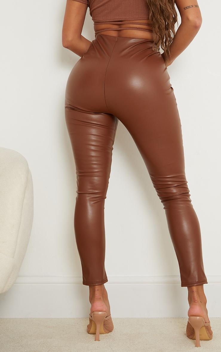 Shape Camel PU Panelled Trouser 3