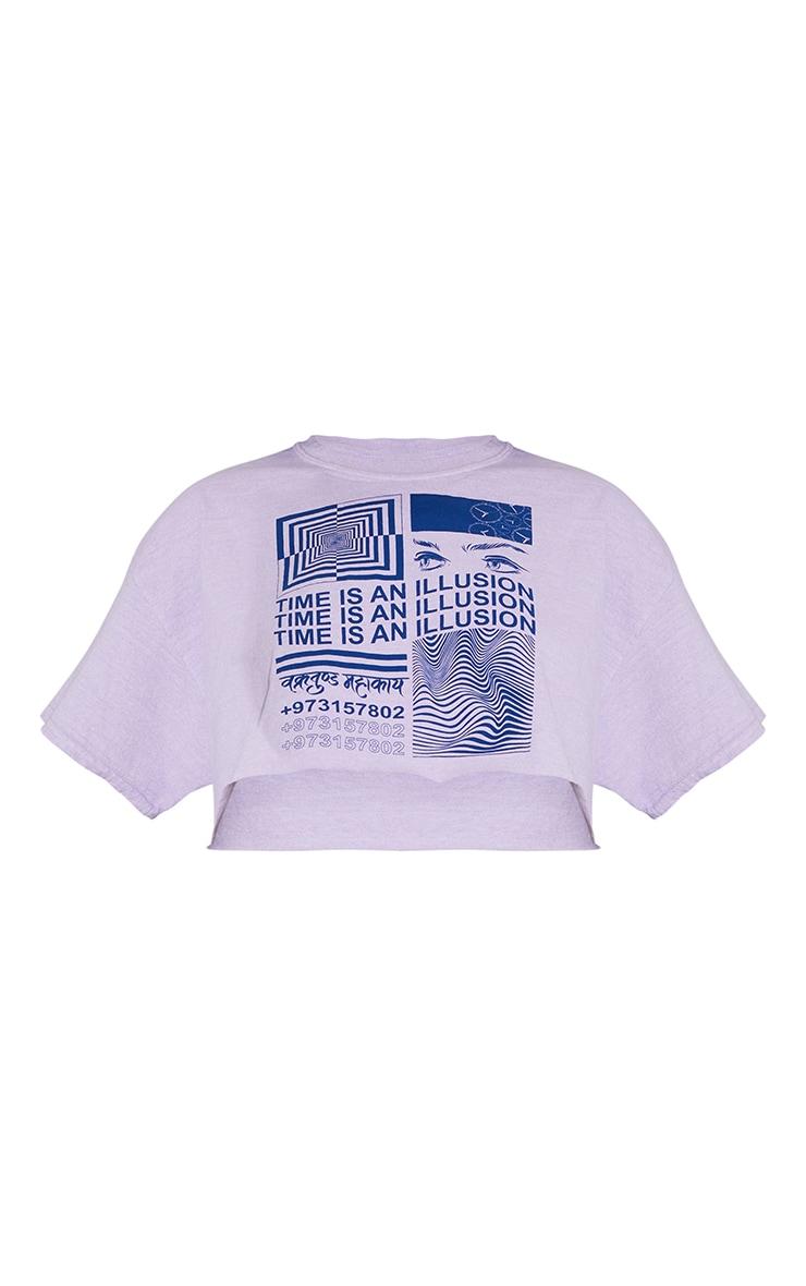 Lilac Illusion Washed T Shirt 5