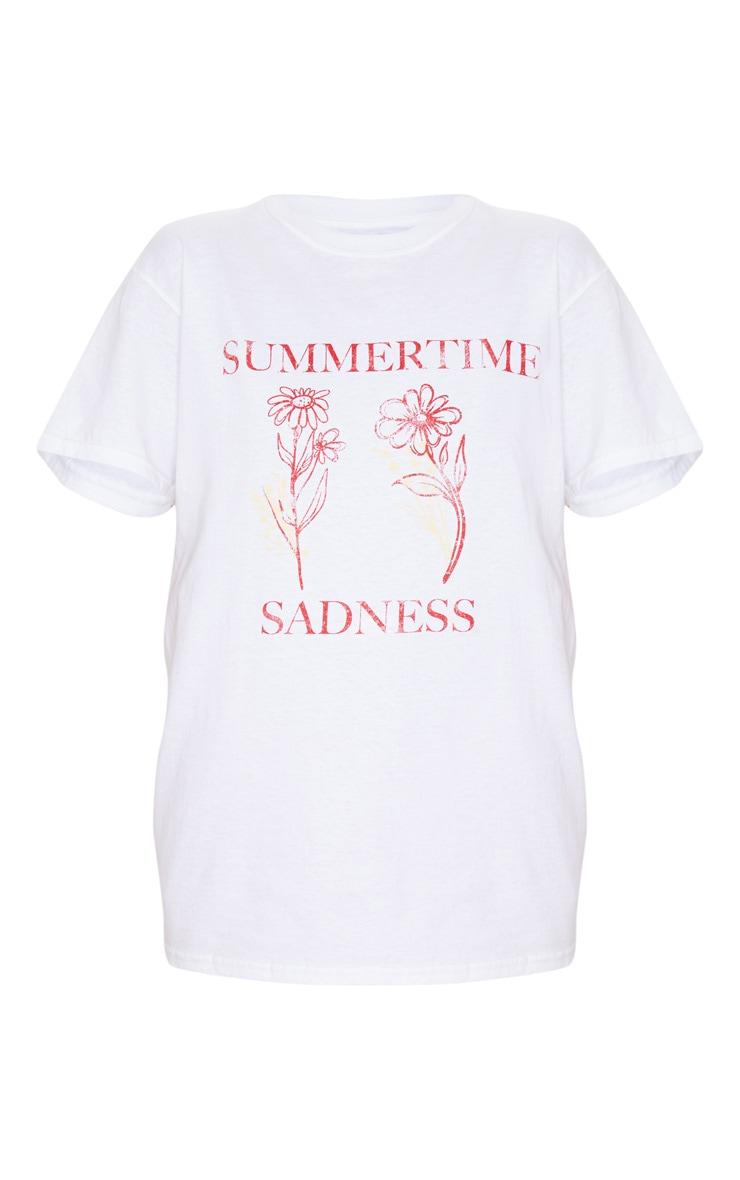 White Summertime Sadness T Shirt 3