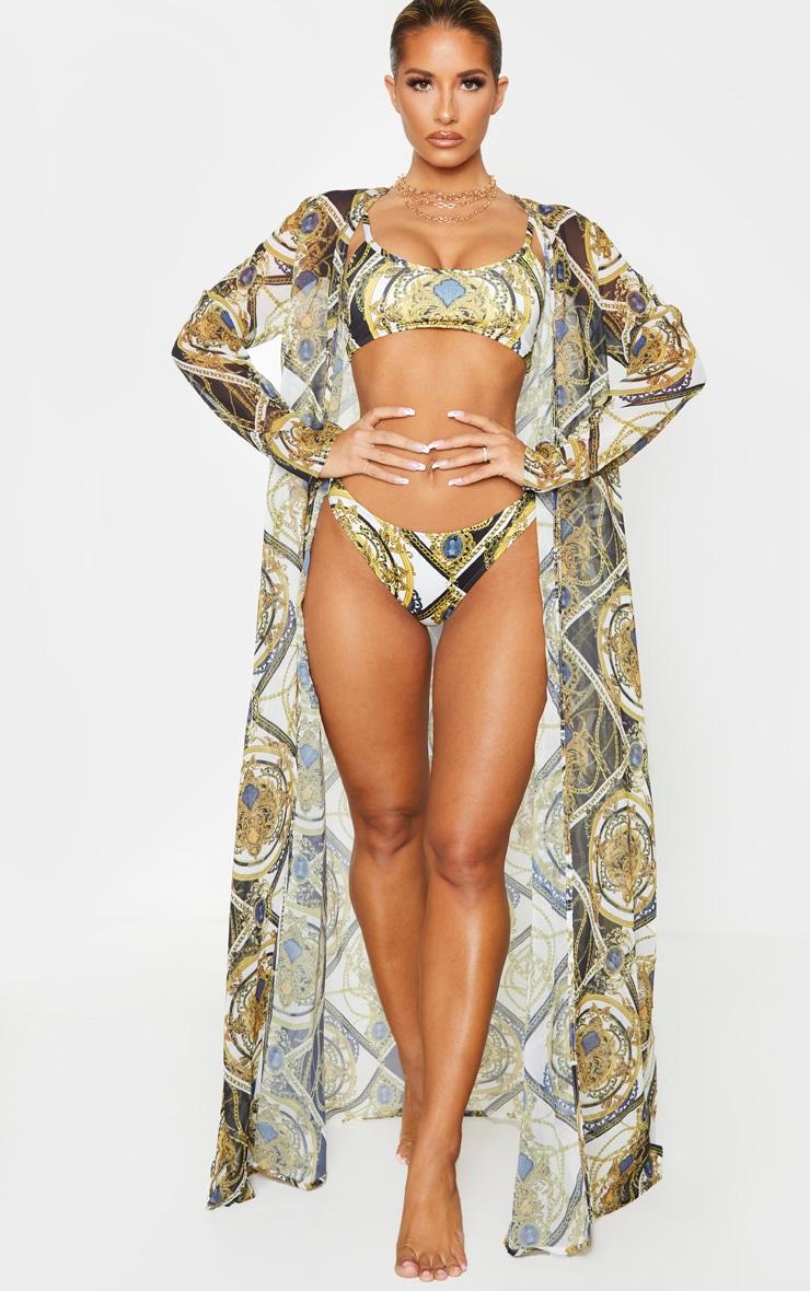 Multi Chain Beach Kimono 1