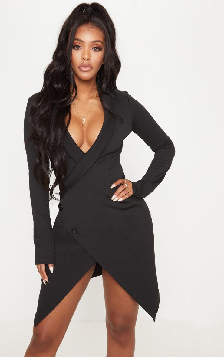 39e471cdf665 Shape Black Blazer Dress | Curve | PrettyLittleThing USA